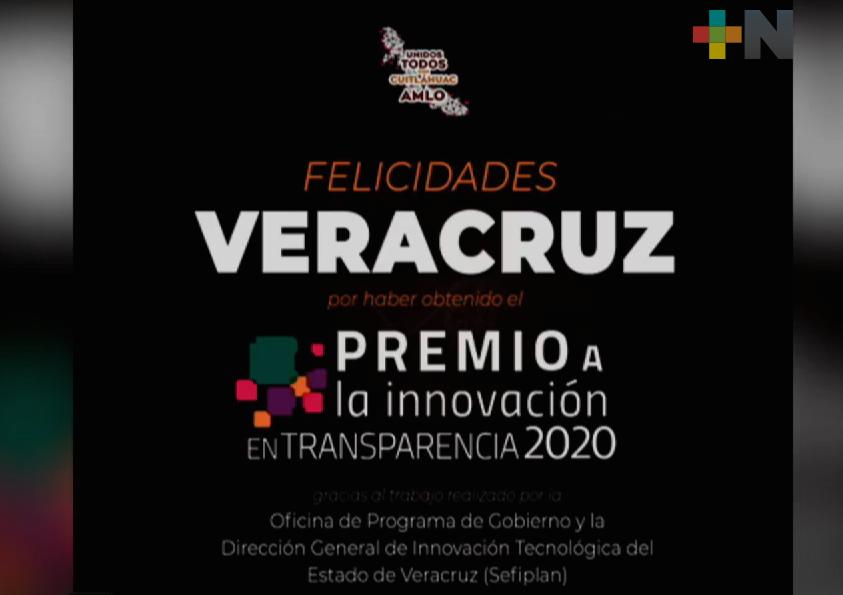 Premio a la Innovación en Transparencia 2020 reconoció al Observatorio Veracruzano de Políticas Públicas