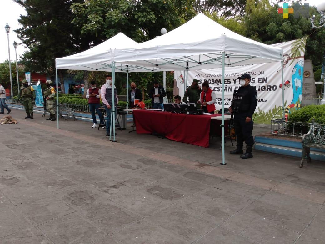 Inició canje de armas en Coatepec y Vega de Alatorre