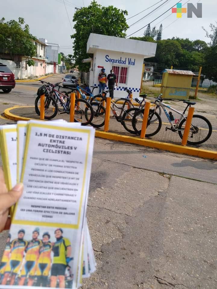 Nanchibikers promueve el respeto a ciclistas