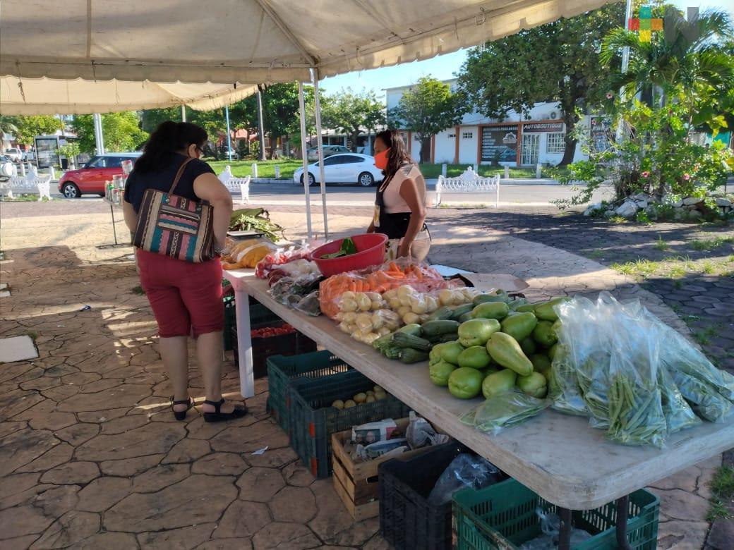 Comerciantes de mercadito Boca toman medidas sanitarias para trabajar