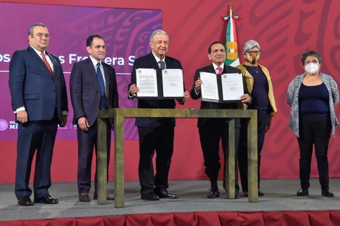 Presidente amplía Zona Libre de la Frontera Norte hasta 2024; estímulos fiscales se extienden a 22 municipios del sureste