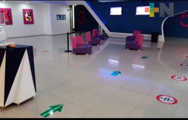 Reabren salas de Cinetix con medidas sanitarias