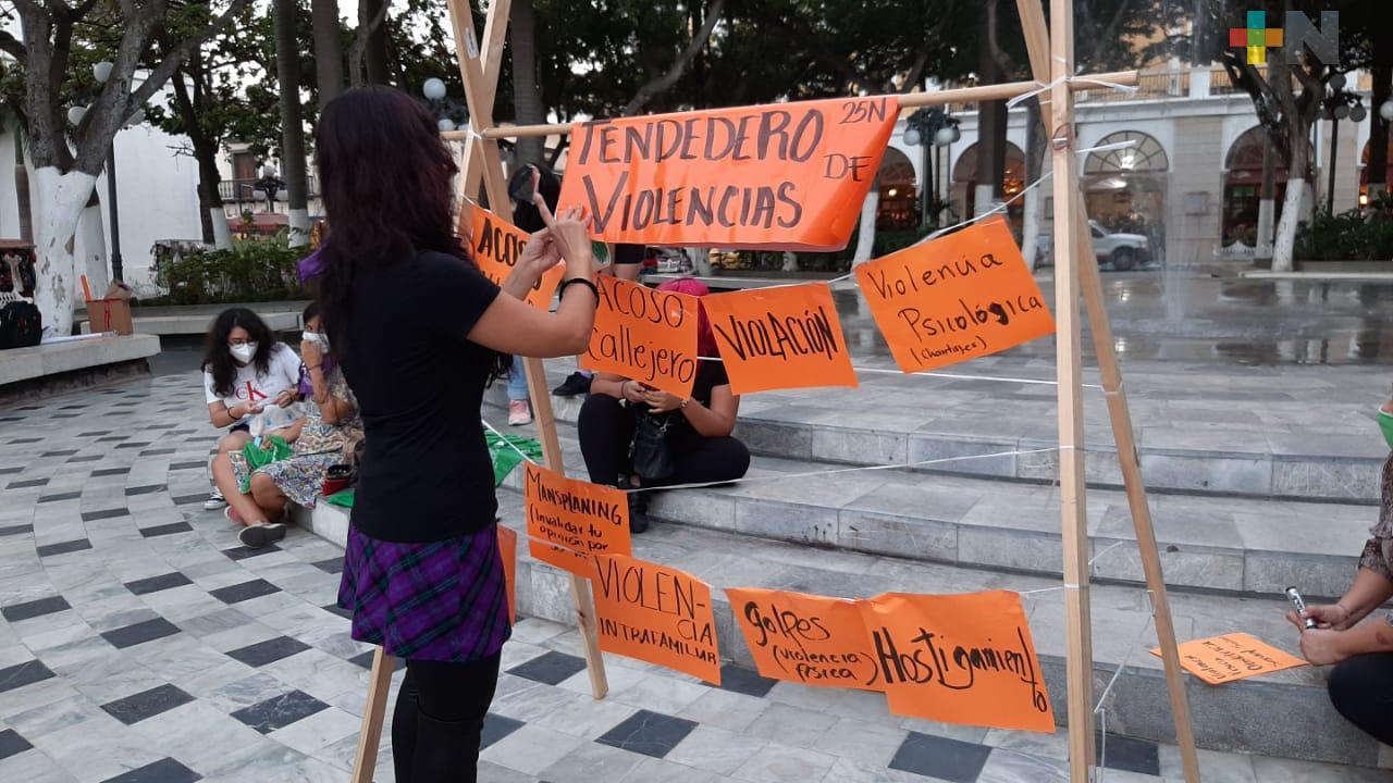 Colocan tendedero de acoso en el puerto de Veracruz
