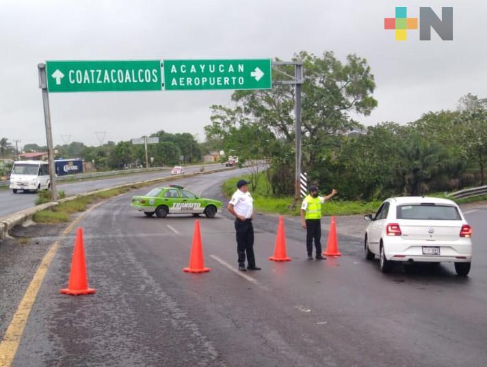Se reanuda la vialidad en la carretera Minatitlán – Coatzacoalcos