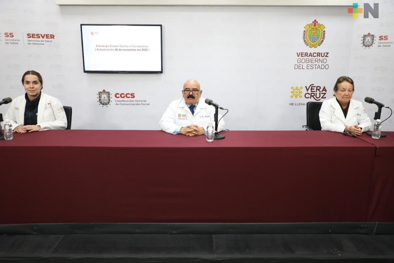 Se registran 117 casos nuevos de COVID-19 en Veracruz