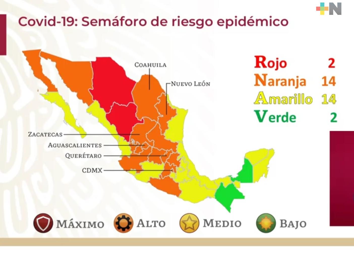 Descarta Secretaría de Salud que Veracruz retroceda en Semáforo Epidemiológico