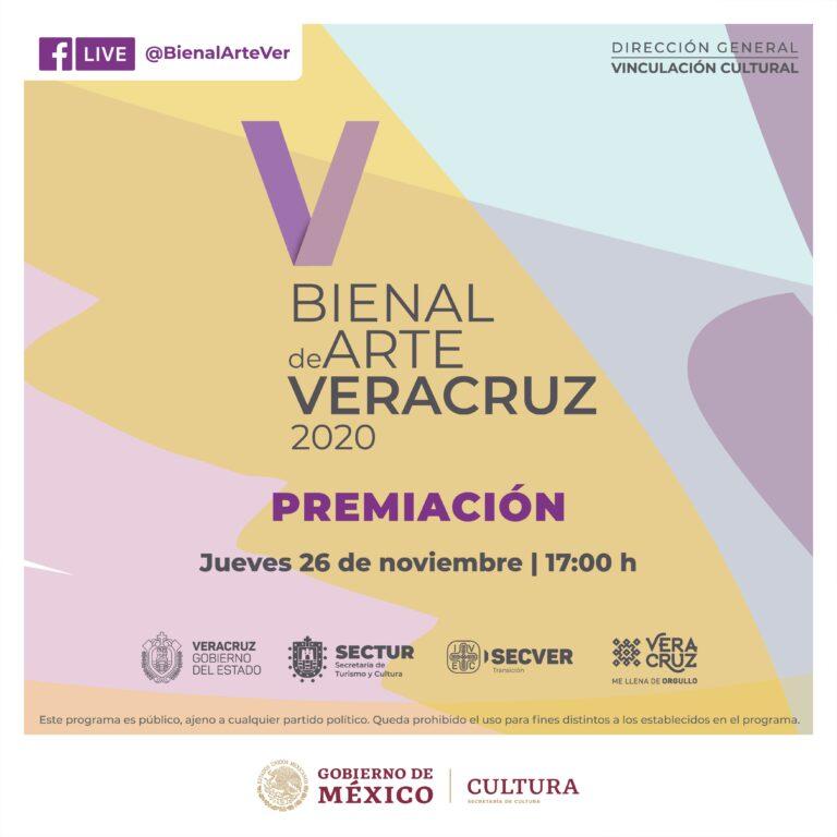 Inaugura IVEC la V Bienal de Arte Veracruz 2020