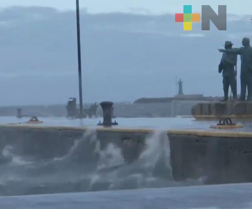 Se intensifica evento de Norte en zona costera Veracruz-Boca del Río