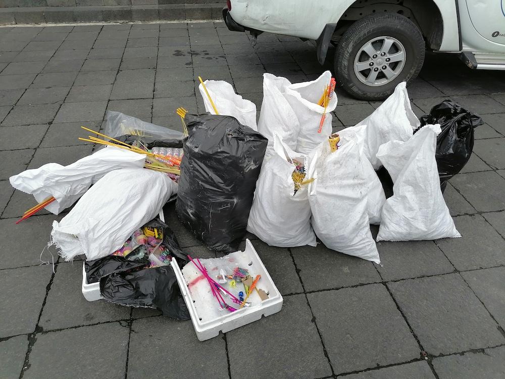 Decomisados más de 400 kilos de pirotecnia en Xalapa; sigue operativo de temporada invernal