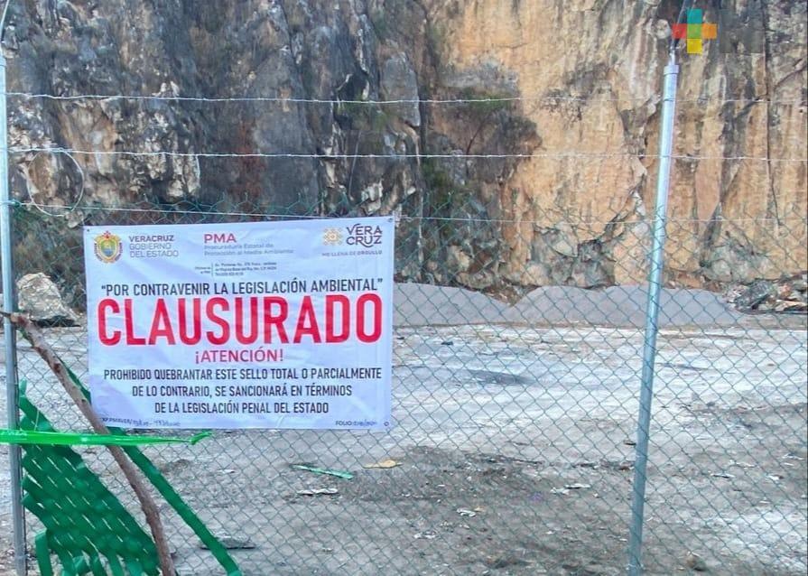 Clausura PMA banco de piedra en Atoyac