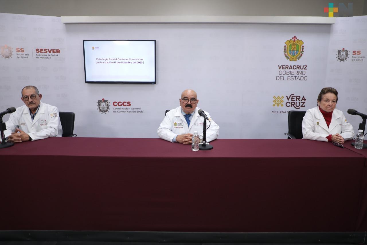 Registra Salud 50 casos nuevos de COVID-19 en Veracruz