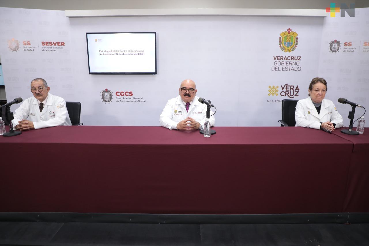 Registra Salud 65 casos positivos de COVID-19 en Veracruz