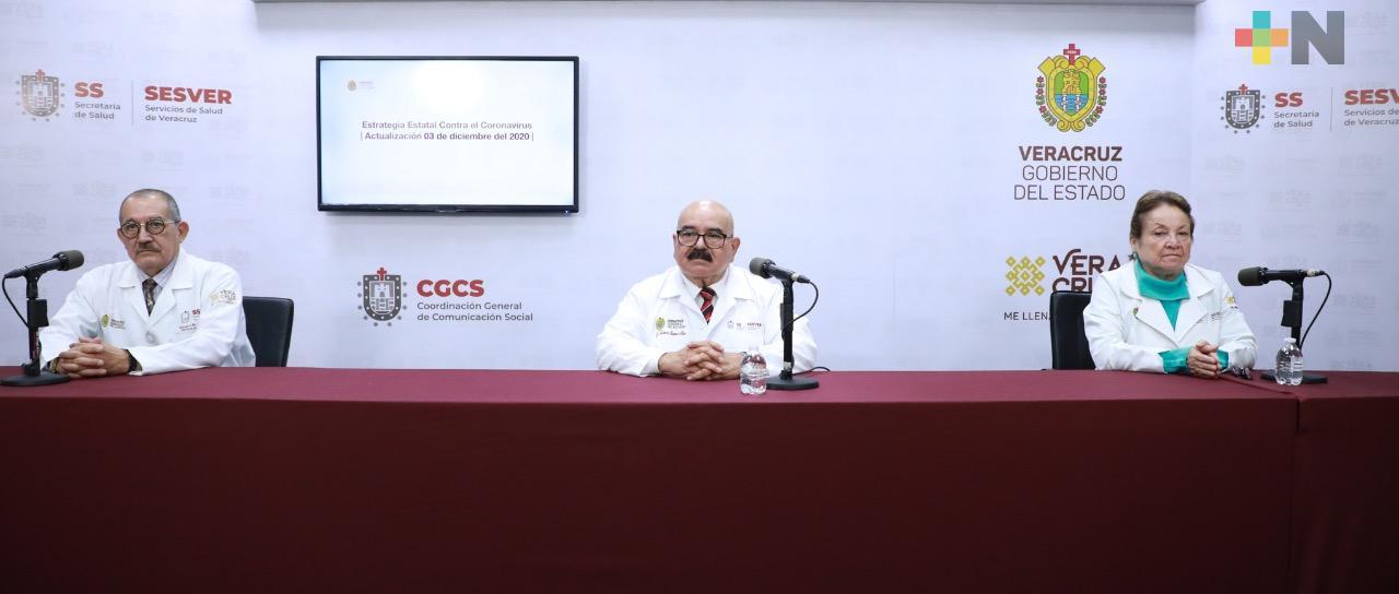 Registra la Secretaría de Salud 90 muertes más por COVID-19 en Veracruz