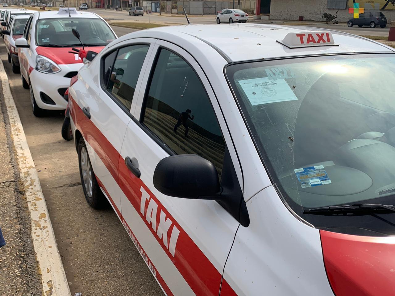 Coalición de Organizaciones Taxistas pide cuidarse de contagios de COVID-19 en Coatzacoalcos