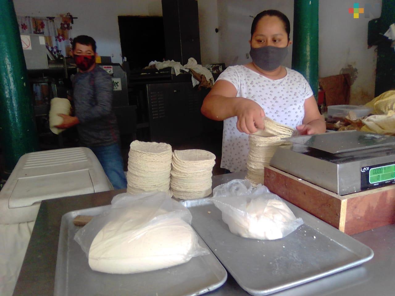 Precio del kilo de tortilla aumentará un peso en Veracruz esta semana