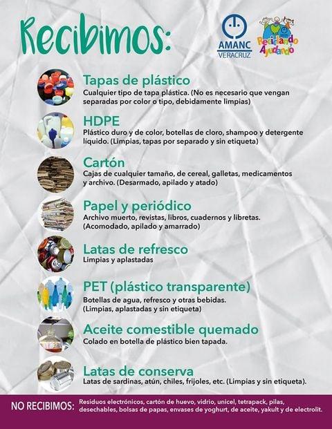 AMANC organiza campaña de recolección de material reciclable para recaudar fondos