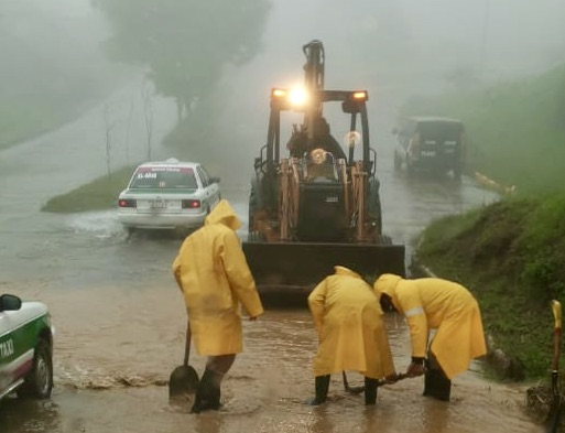 Intensa y prolongada lluvia cayó sobre Xalapa; podría ser récord para un mes de enero