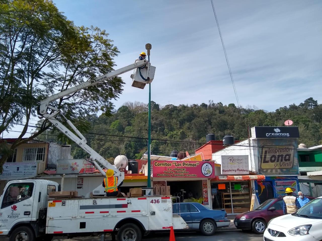 Continúa Ayuntamiento con sustitución de luminarias en avenidas