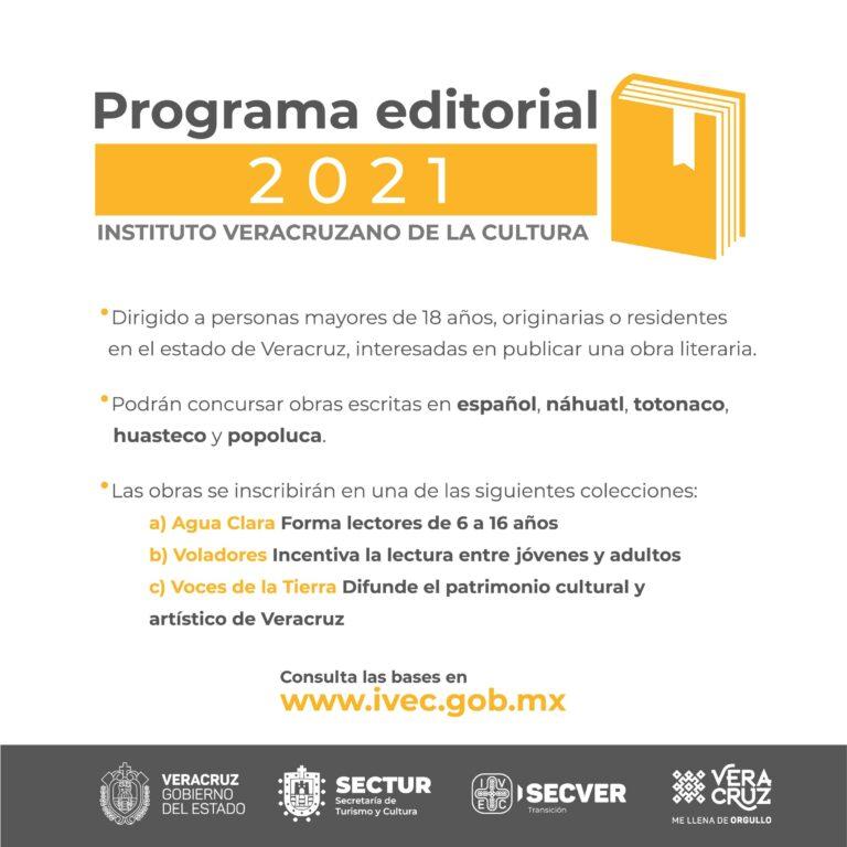 Emitió IVEC Convocatoria de Publicaciones 2021
