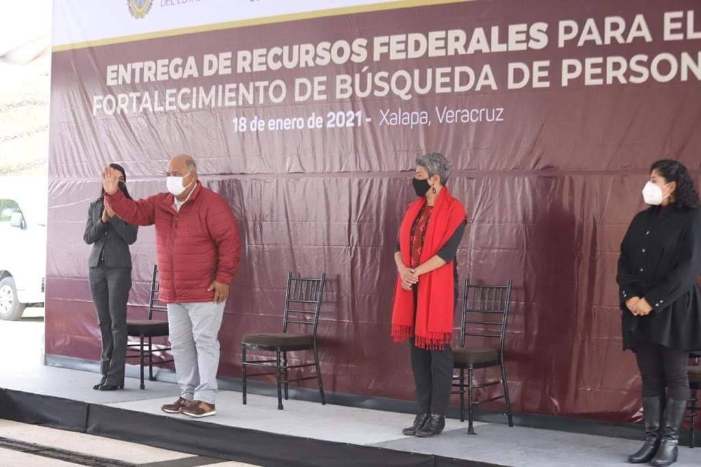 Encabezó Eric Cisneros entrega de recursos para el fortalecimiento de búsqueda de personas en Veracruz