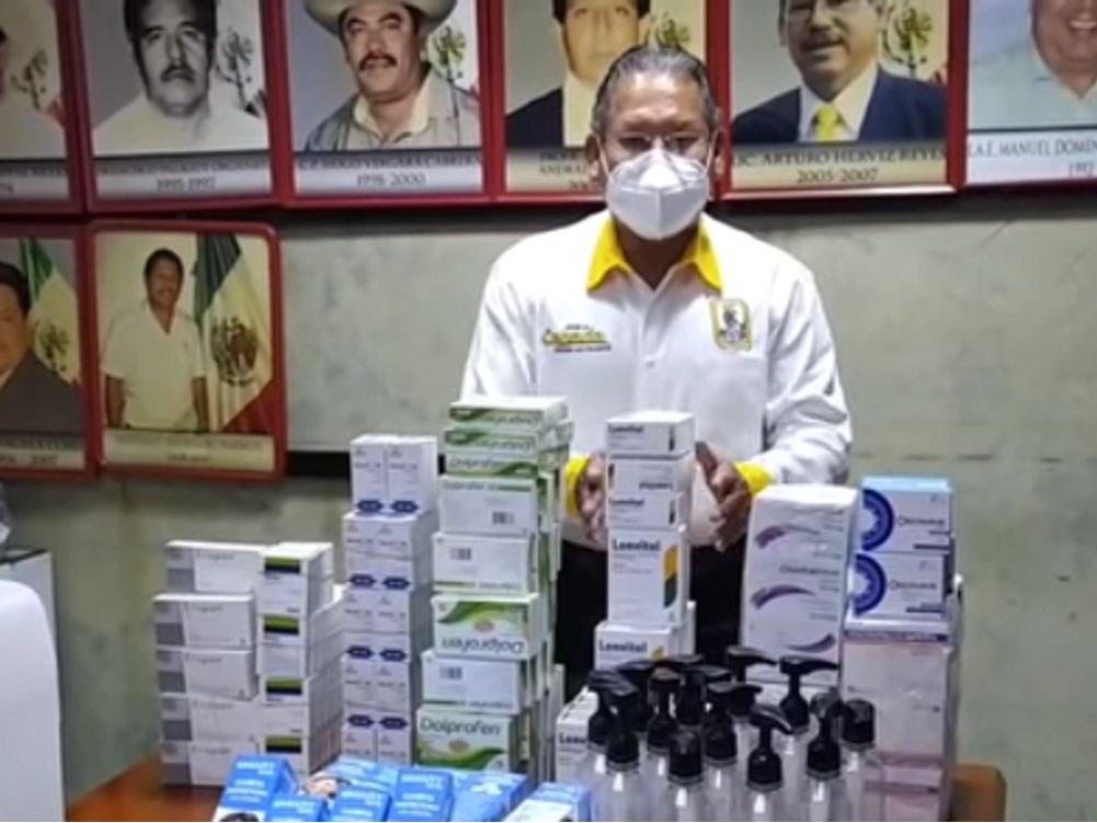Alcalde del municipio Ángel R. Cabada, adquiere nuevo paquete de insumos sanitarios