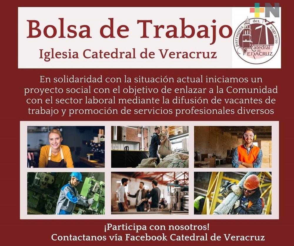 Catedral del municipio de Veracruz inició el proyecto de Bolsa de Trabajo