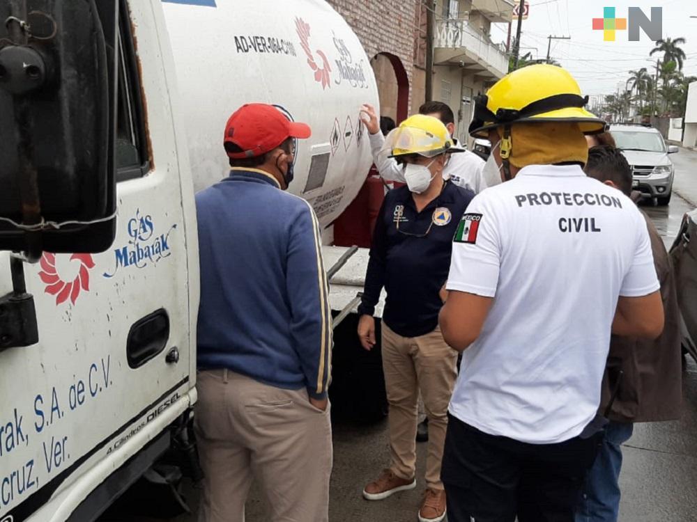 En Boca del Río, fuga de gas movilizó a bomberos conurbados y PC municipal