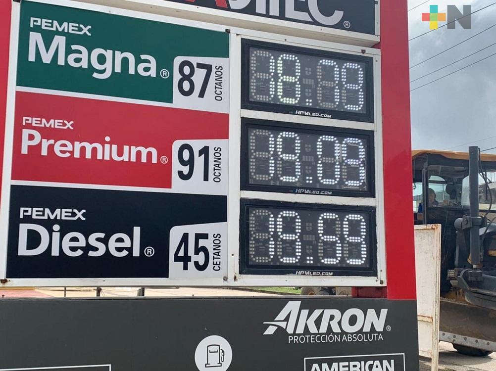 En Coatzacoalcos, gasolina Premium supera la barrera de los 19 pesos