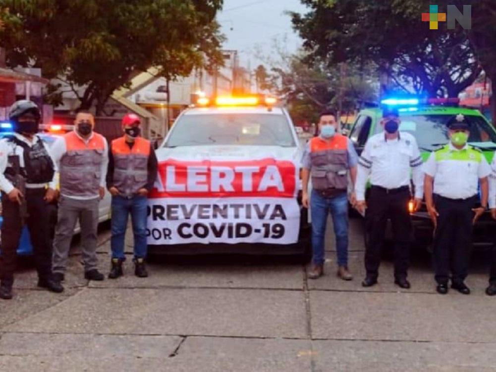 En Coatzacoalcos inició el operativo para disminuir movilidad de transeúntes en primer cuadro de la ciudad