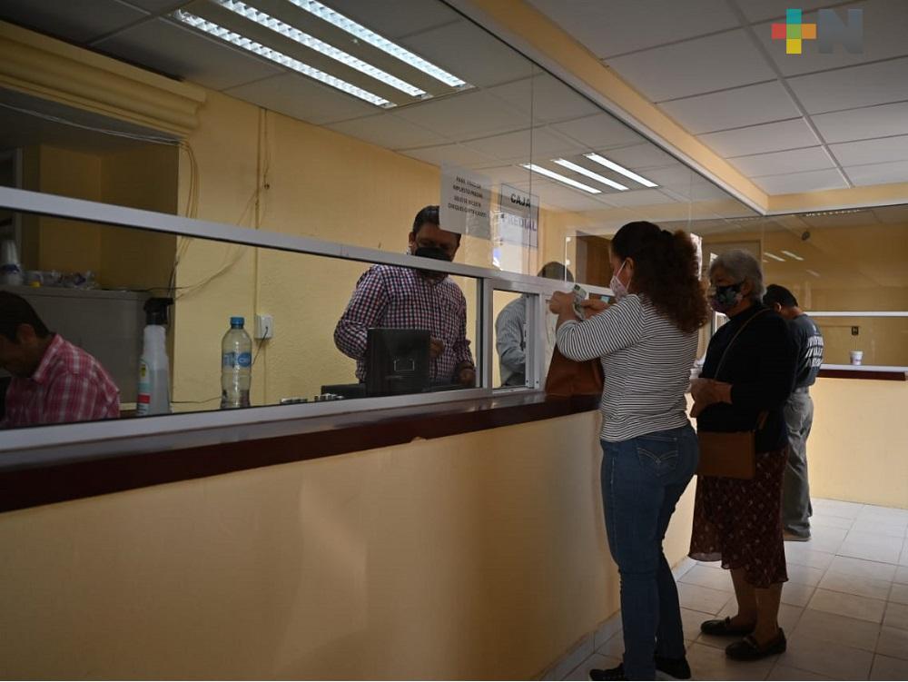 En Tempoal, registran buena afluencia de ciudadanos para pago de predial