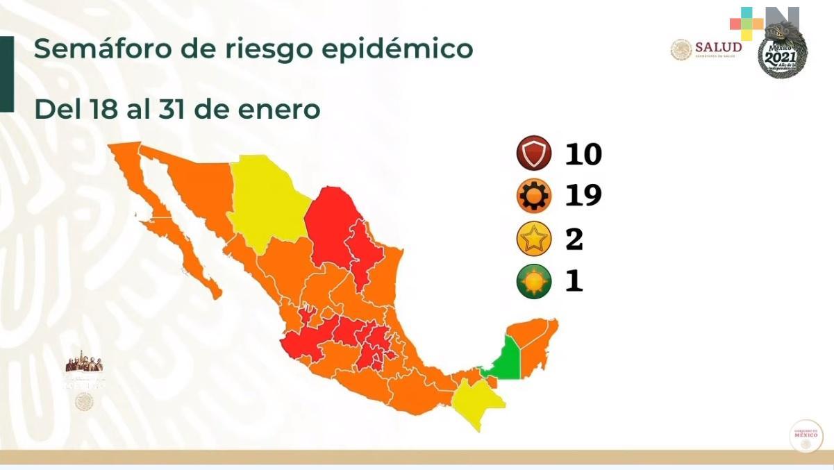 Regresa Veracruz al semáforo naranja
