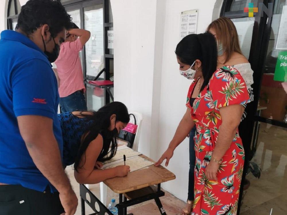 Expidieron primera acta de nacimiento sin presencia de menor, en Coatzacoalcos