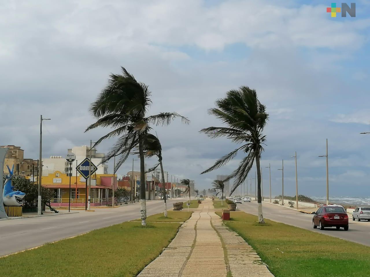 Con racha de viento entró Frente Frío 26 a Coatzacoalcos
