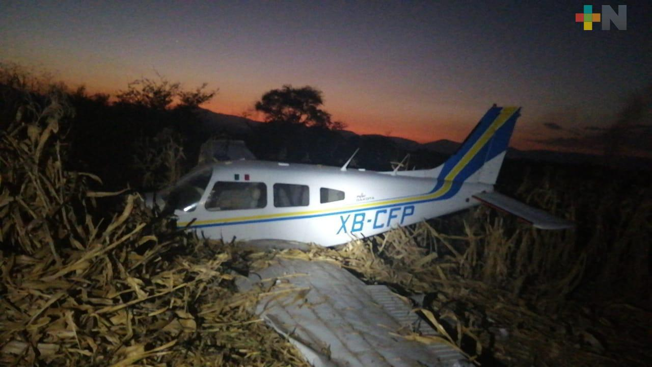 Cae avioneta en Morelos