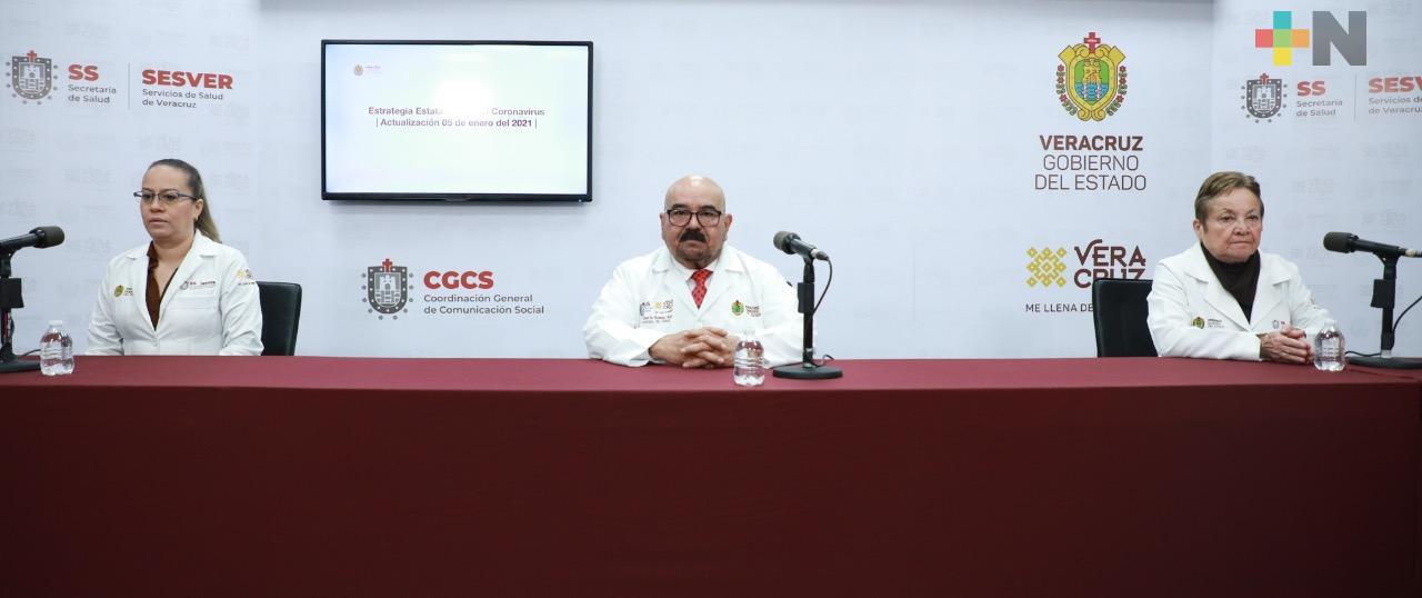 Se aplicarán 11 mil 113 vacunas al personal médico en Veracruz