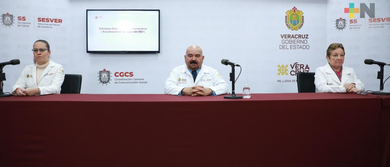 Registra Salud 82 casos nuevos  de COVID-19 en Veracruz