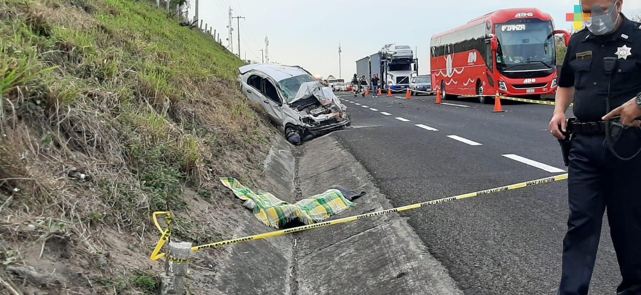 Mueren dos mujeres en accidente, en la autopista Veracruz-Cardel