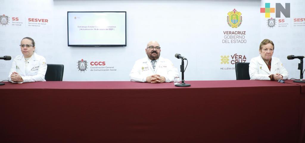 Se registran 287 casos nuevos de COVID-19 en Veracruz