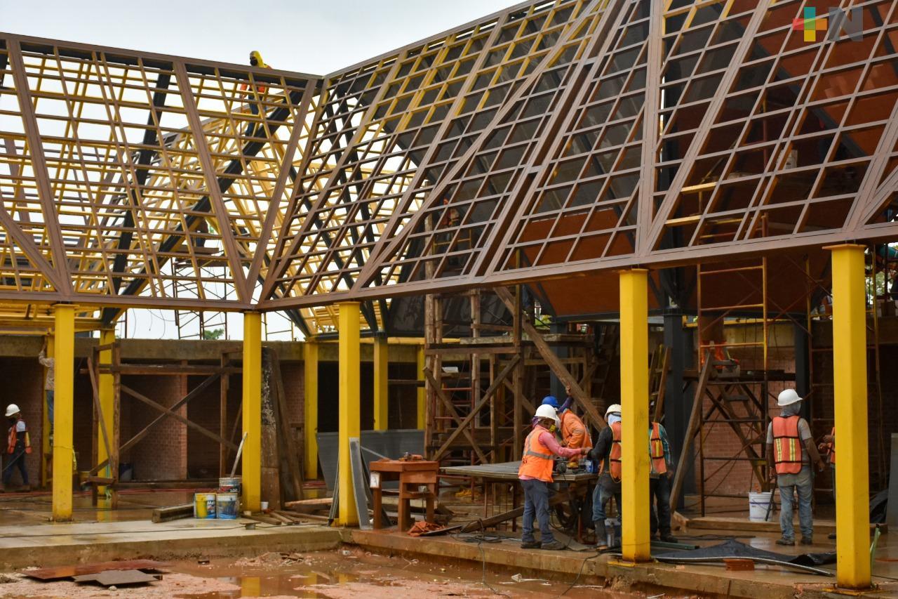 Construcción del mercado Cuauhtémoc generó 300 empleos en Coatzacoalcos