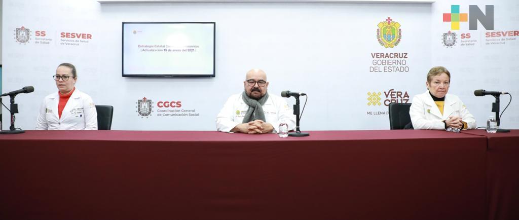 Se registran 343 casos nuevos de COVID-19 en Veracruz
