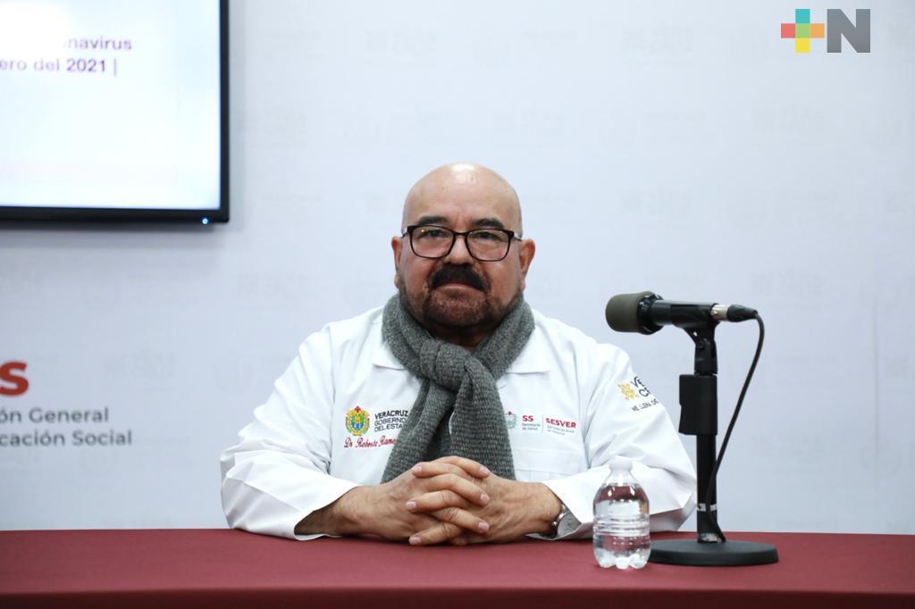 Este sábado concluye vacunación a personal de la primera línea de 9 hospitales COVID-19 de Veracruz