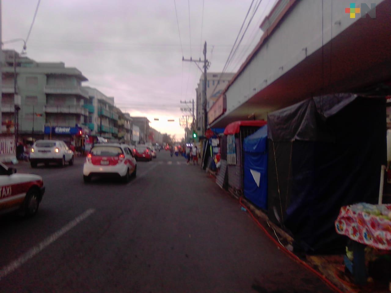 Decreto estatal redujo movilidad en el Puerto de Veracruz