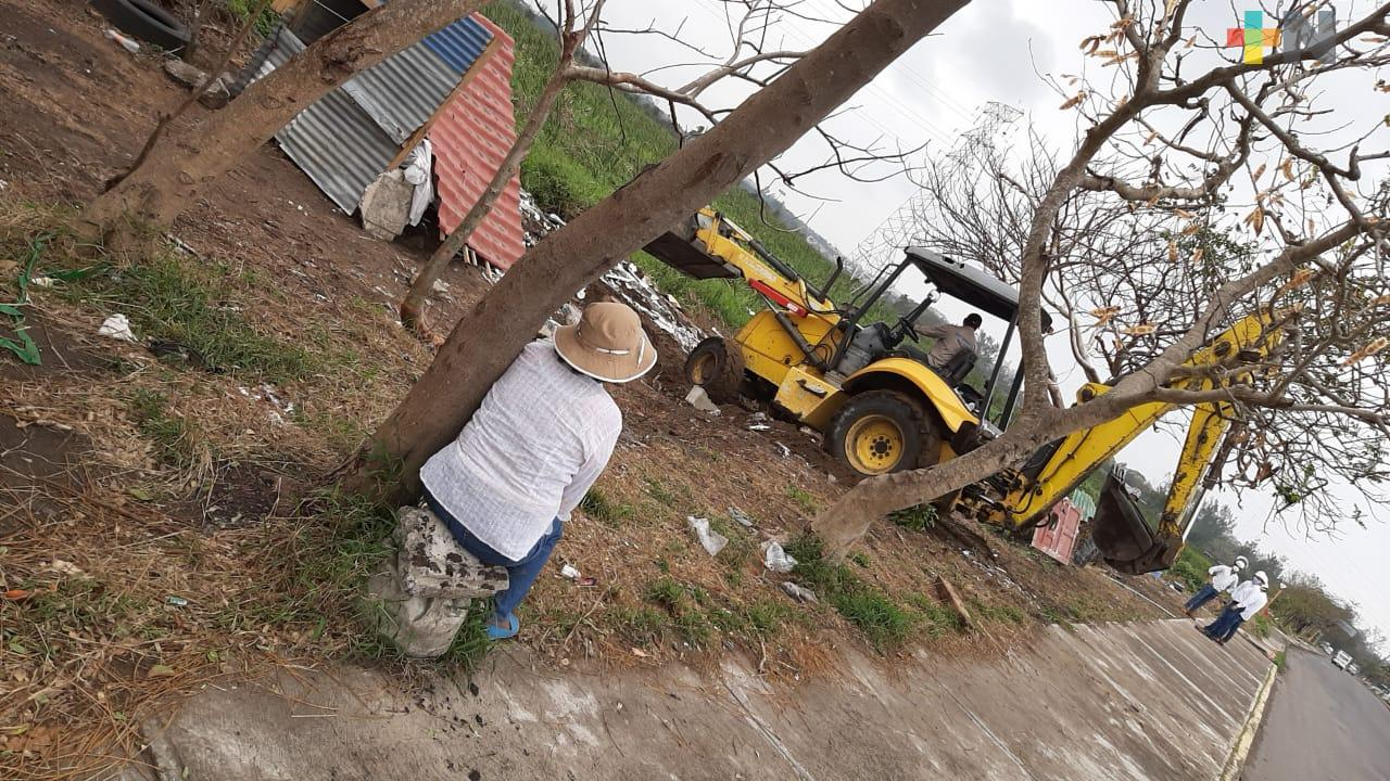 Desalojan nuevamente a personas en Laguna Olmeca