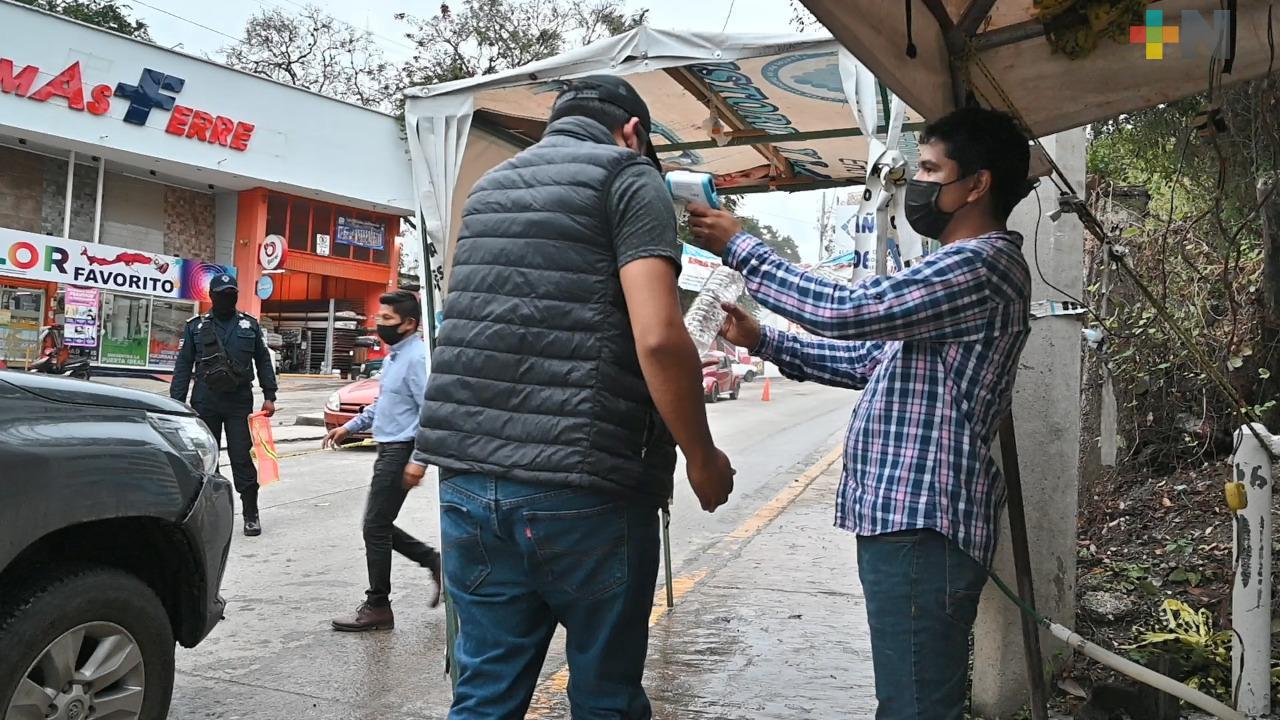 Hay filtros sanitarios, permanentes en Tantoyuca, afirman autoridades