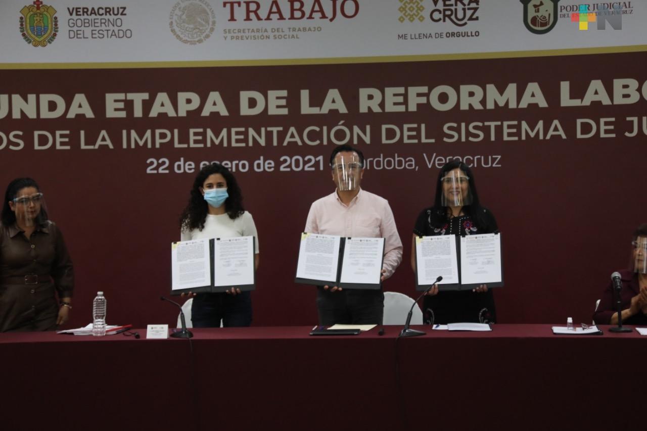 En marcha, segunda etapa de implementación de la Reforma Laboral en Veracruz