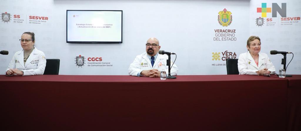 Se registran 337 casos nuevos de COVID-19 en Veracruz