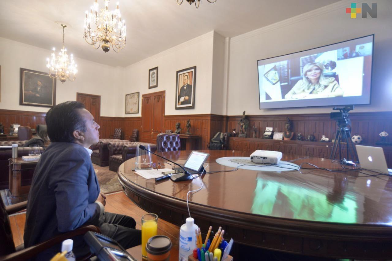 Participa el Gobernador Cuitláhuac García en reuniones virtuales