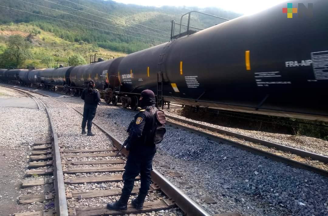 Supervisa IPAX y fuerzas del orden zona de vías Ferrosur, en Acultzingo