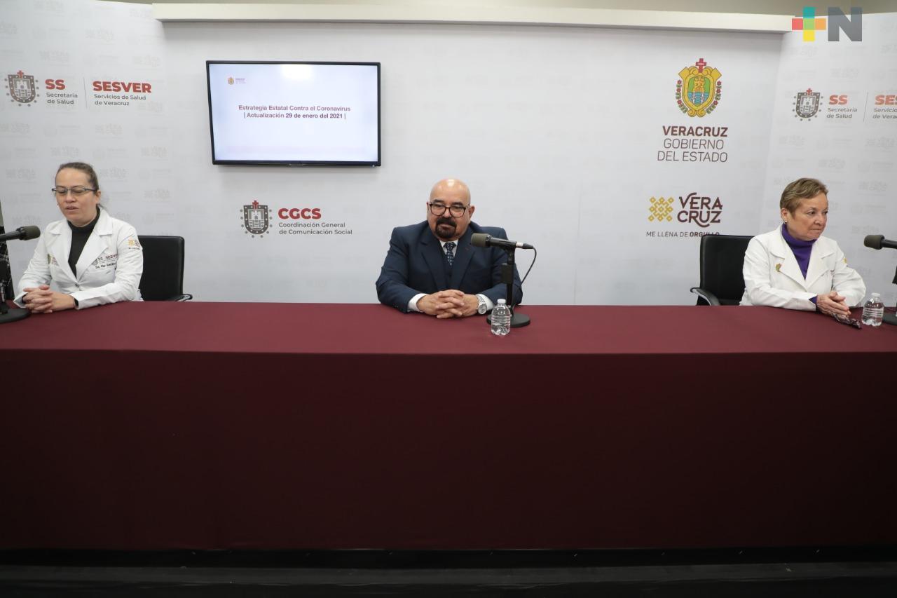 Se registran 298 casos nuevos de COVID-19 en Veracruz