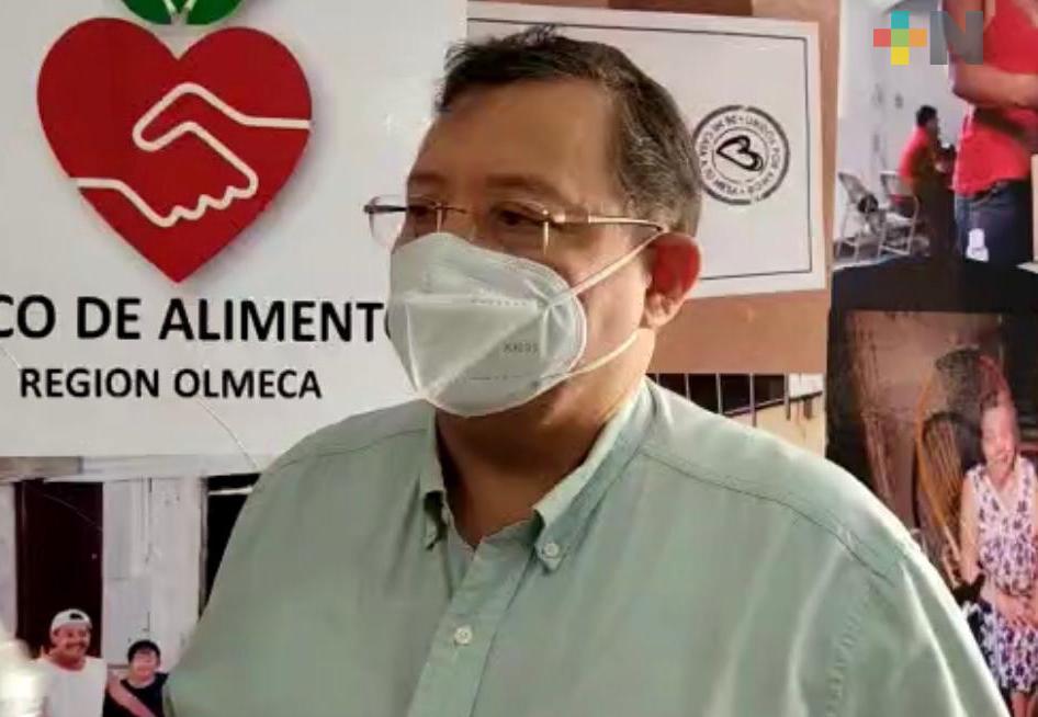 Requiere apoyo el Banco de Alimentos Olmeca; aumentó número de personas necesitadas